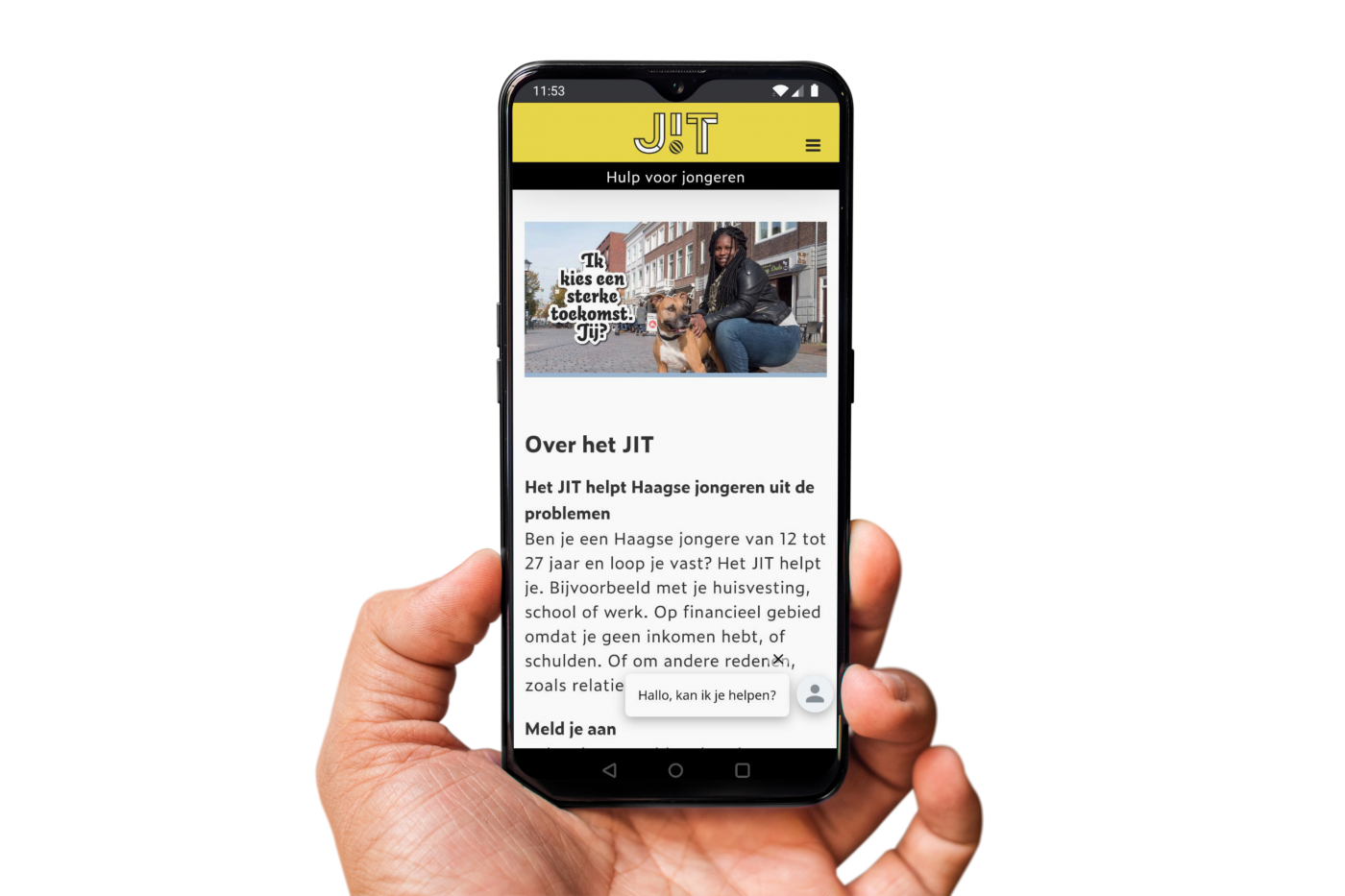 Het JIT mobiele website