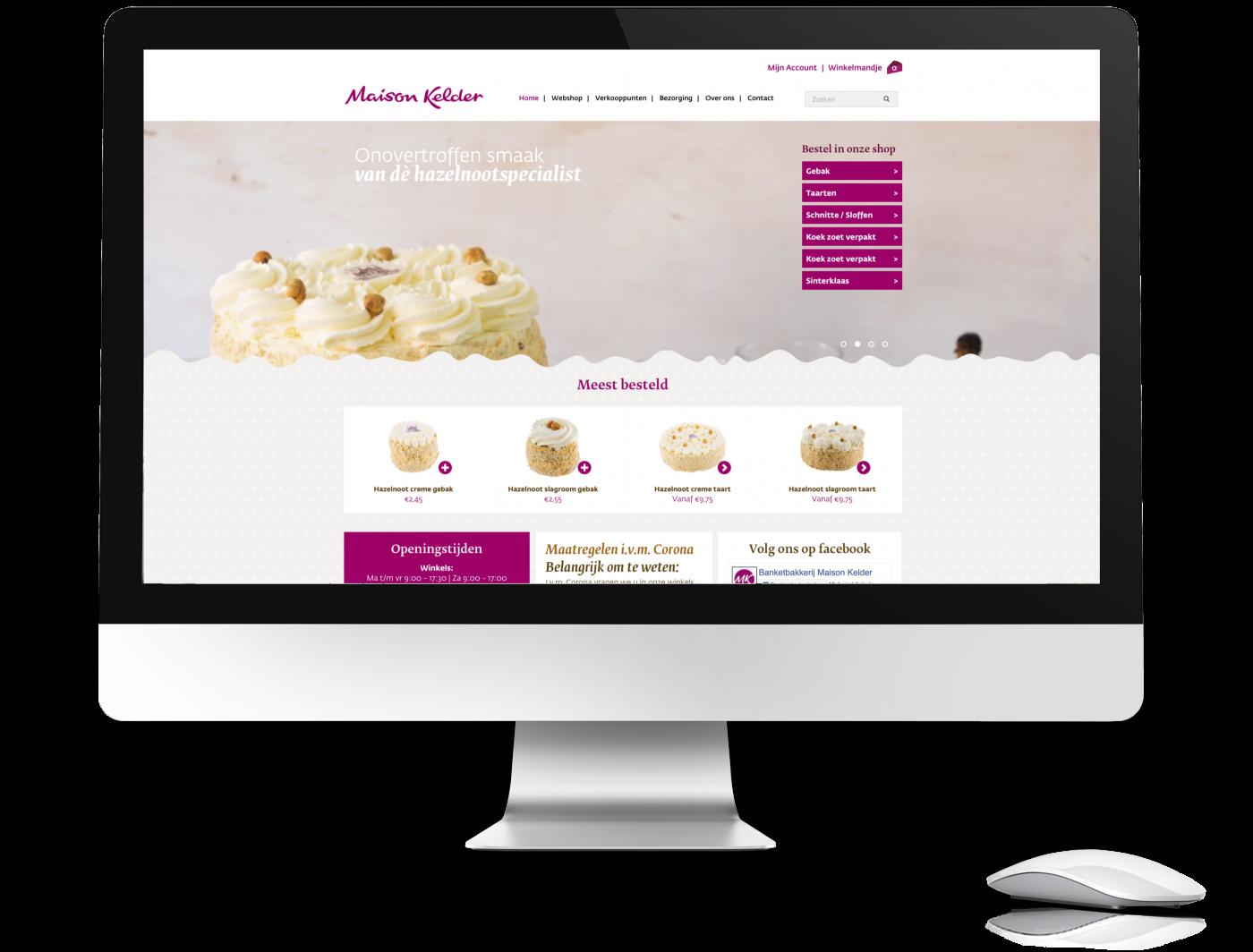 Website Maison Kelder homepage, desktop