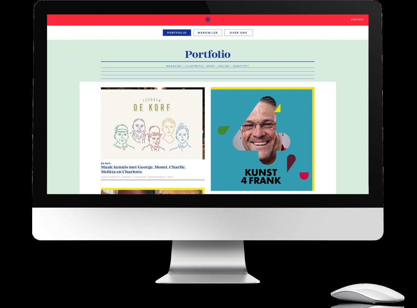 De website van studio maanzaad, gemaakt door Zite